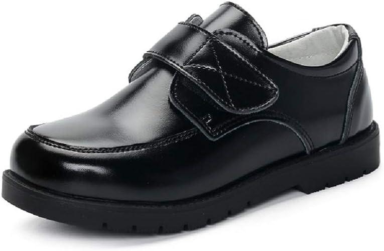 GladRags Boys Black Leather School