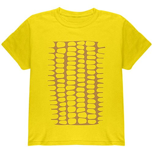 Halloween Corn on the Cob Costume Youth T Shirt Yellow YLG