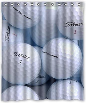 Amazon Golf Ball Waterproof Bathroom Fabric Shower Curtain
