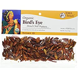 Terra Dolce Organic Bird's Eye Chiles, 0.75 Ounce (Pack of 6)