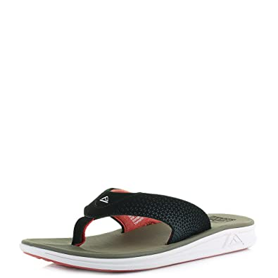 ae54d21562ab Reef Mens Rover Tan Red Slim Profile Flip Flops Size 9  Amazon.co.uk  Shoes    Bags