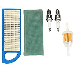 Air Filter Fuel Filter Spark Plug Tune Up Kit for John Deere 115 L108 LA105 LA110 LG253 for Briggs & Stratton 698083 394358S 394358S 494768