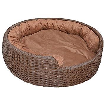 Cama para mascotas, cama para perro, cesta de ratán: Amazon.es: Productos para mascotas