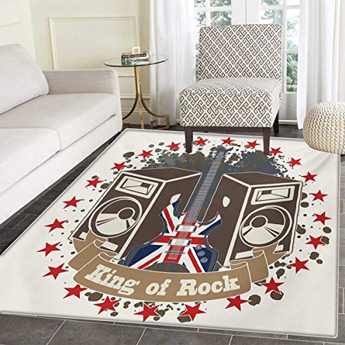 Popstar Party Door Mat Rug King Rock Label Speakers Stars El
