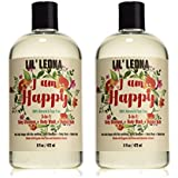 100% Natural and Tearless Baby Shampoo Body Wash and Bubble Bath Set - 32 oz- By Lil Leona
