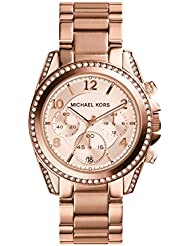 Michael Kors Womens Blair Rose Gold-Tone Watch MK5263