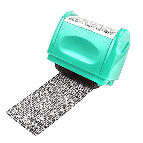 Identity Privacy Protection Confidentiality Roller Stamp Design for Secure Confidential ID Blackout Security, Anti Theft and Privacy - Gift Prescription Card With New
