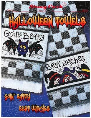 Halloween Towels Cross Stitch Chart and Free Embellishment]()