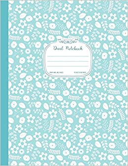 amazon com dual notebook graph and lined pages blue floral journal