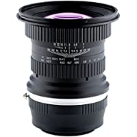 Opteka 15mm f/4 LD UNC AL 1:1 Macro Wide Angle Full Frame Lens for Fuji X Mount Digital Cameras (EOS-Fuji X)