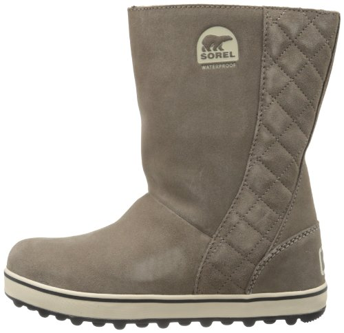 Sorel Women's Glacy Snow Boot, Saddle/Fossil, 7 M US