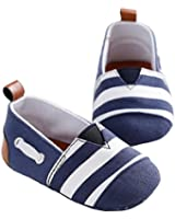 LIVEBOX Newborn Baby Cotton Stripes Soft Sole Infant Prewalker Toddler Shoes
