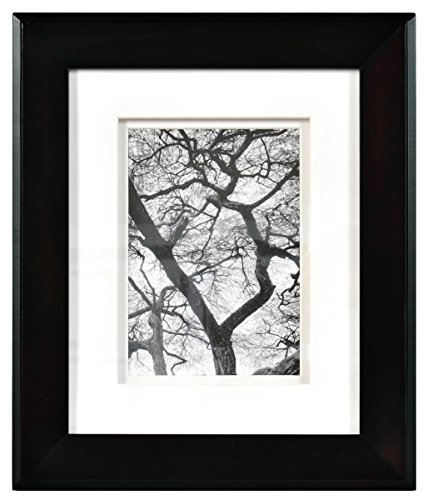 - Nielsen Bainbridge Artcare 8x10 Chelsea Black Museum Quality Archival Frame with Double White Mat for 5x7 Image #RW07CHLMB. Includes: UV Glazed Glass and Anti Aging Liner