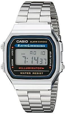 Casio Men's A168W-1 Stainless Steel Watch