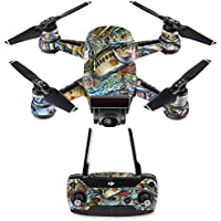 Skin for DJI Spark Mini Drone Combo - Action Fish Puzzle| MightySkins Protective, Durable, and Unique Vinyl Decal wrap cover | Easy To Apply, Remove, and Change Styles | Made in the USA