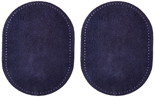 Dritz 55230-3 Suede Elbow Patches, Navy, 4-3/4 x 6-1/2-Inch (2-Count)