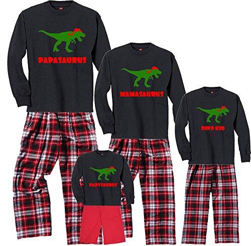 Footsteps Clothing Dino Family Black Pajama Set - Adult Large, L/S, CRB Pants (215)