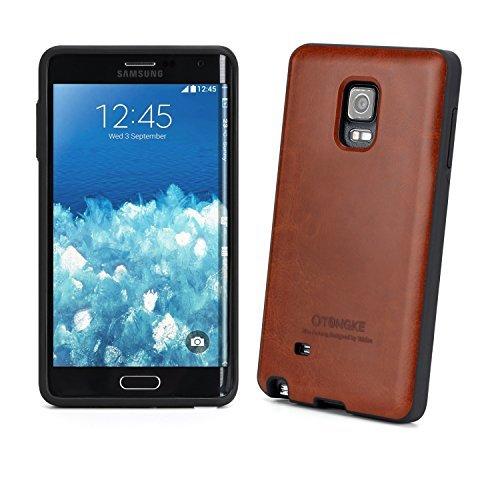 Anti Shock Case - [Tridea] Anti-Shock Samsung Galaxy Note Edge Case Premium Leather [Brown] TPU Case with Hidden Card Storage for Samsung Galaxy Note Edge