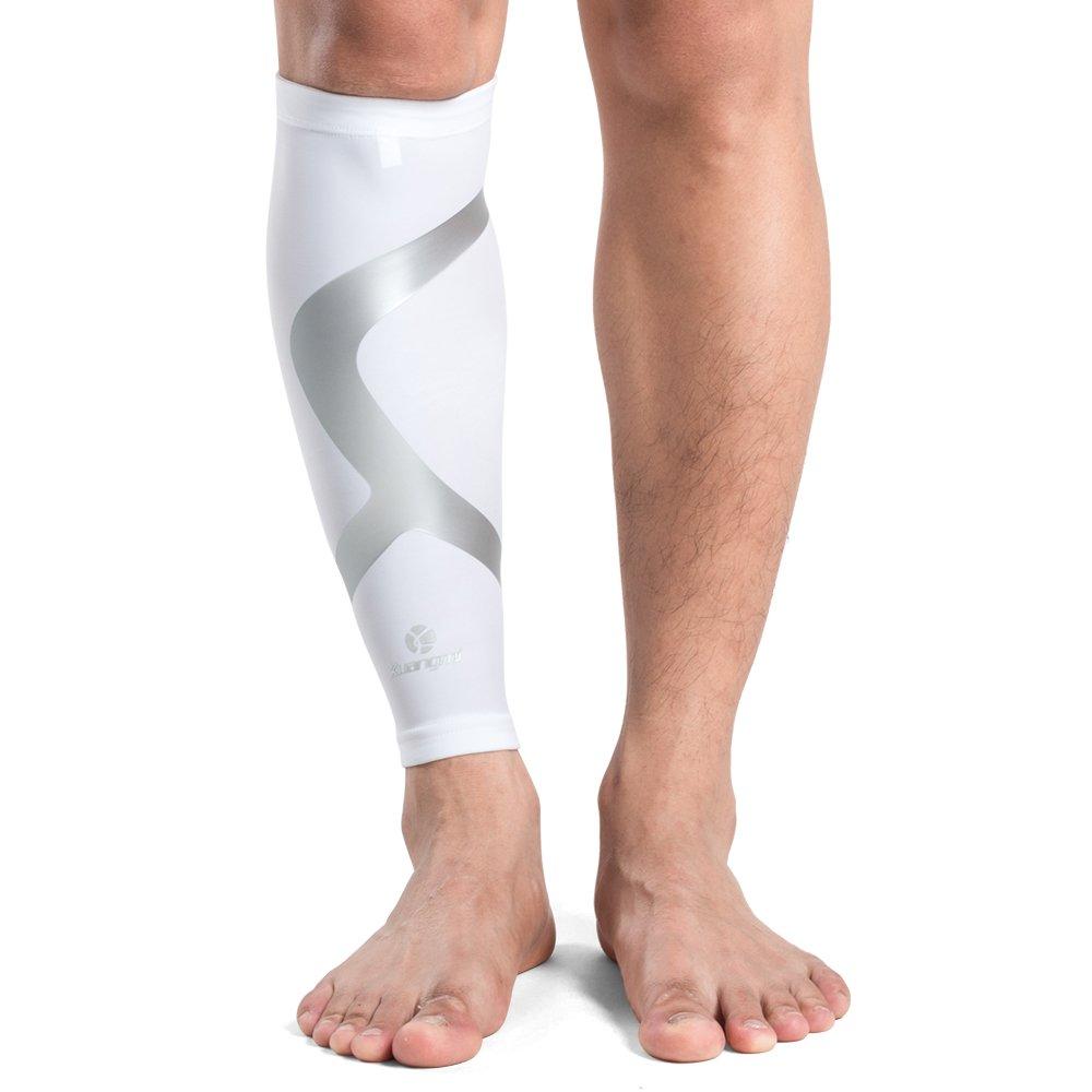 Kuangmi Calf Leg Compression Sleeve Shin Splint Sock Men Women Youth Running Cycling