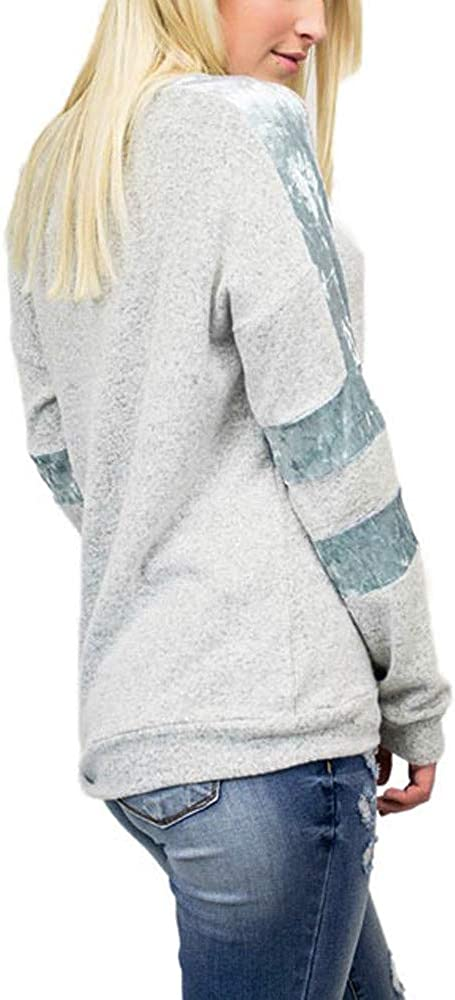 Redbrowm Top Jacket For Women,Ladies Striped Long-Sleeved Fluffy Fashion Top