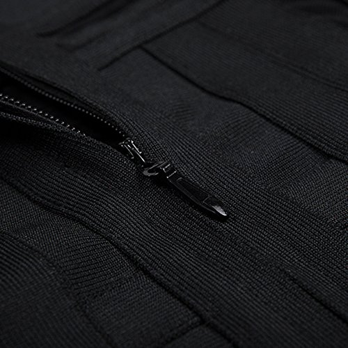 Long Solid Perspective Sleeve Dress Schwarz Rayon Mesh HLBandage the Bandage Off Shoulder BfpqAp