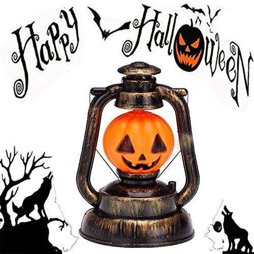 Halloween Pumpkin Ghost Lamp Luminous Lanterns Jack O Lantern Nightclub Layout Props Halloween Portable Lantern Lamp Toys Night Light Flashing Music Ghost Called( (Pumpkin Oil - Handles Called Glasses