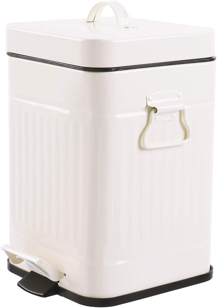 Mingol Store Bathroom Metal Trash Can with Lid