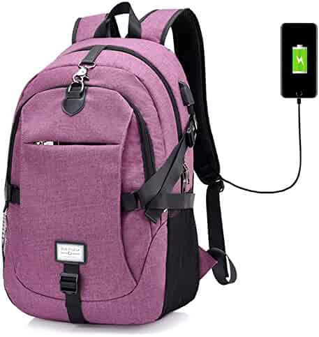 PADY-Outdoor Casual Durable Canvas Laptop Backpack Travel Computer Bag for  Women Men Unisex Anti c678c8ce1d683