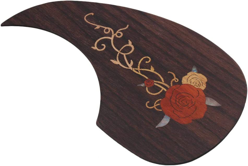 lovermusic Acoustic Guitar Pickguard with Classical Guitar Arm Rest Replacement for 40-41 inch Guitar