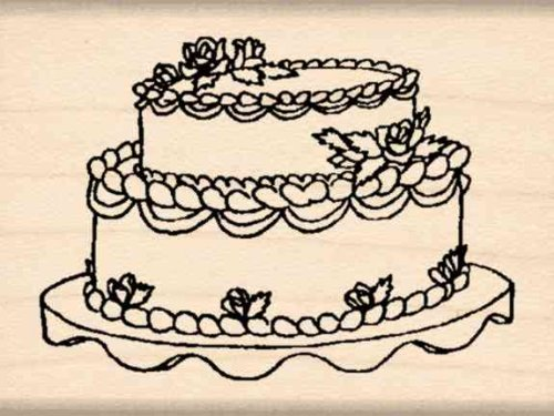 Stamps by Impression Wedding Cake Rubber Stamp
