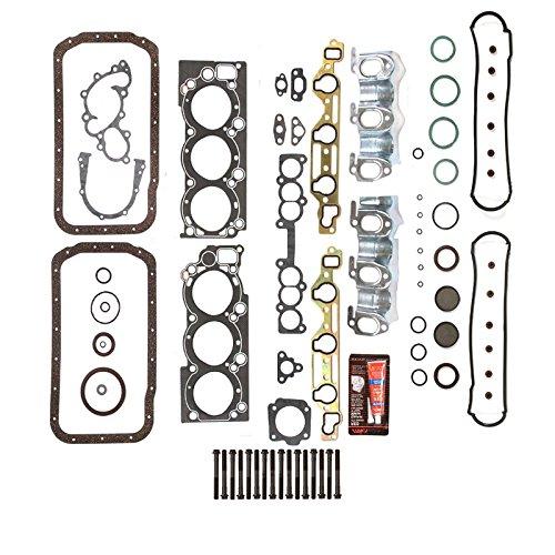 (Head Gasket Set Bolts Graphite Full Repair Kit Set Fit 88-95 Toyota 4Runner T100 Pickup 3.0L V6 Engine Code 3VZE)