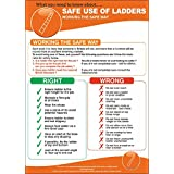 Safe Use Of Ladders Poster 420x595mm - (P5008) by UK Safety Posters