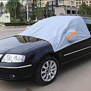 Denshine Car Windshield Snow Cover Durable Weatherproof Rainproof for Winter Protection Frost Cover Windscreen Ice Protector Snow Heat & UV Protect