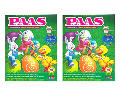 PAAS Friends 9-Color Deluxe Egg Dye Decorating Kit (2-Pack) (Bunny Walmart Easter)