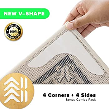 Amazon Com Non Slip Rug Gripper Pads 8 Reusable Corner