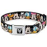 """Hebilla para cinturón de seguridad con hebilla para perro, diseño de personajes de Disney, color negro, Disney, Multicolor, 1"""" Wide - Fits 9-15 Neck - Small"""