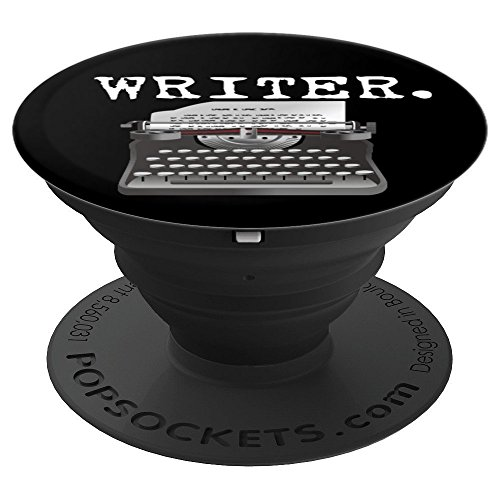 Writer Gift For Journalist Editor Typewriter Author Holder - PopSockets Grip and Stand for Phones and Tablets (Best Font Editor For Android)