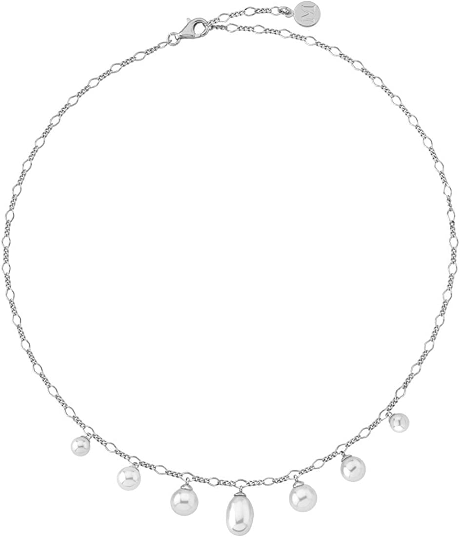 Marrimpouey - Collar de plata con perla (20 cm)