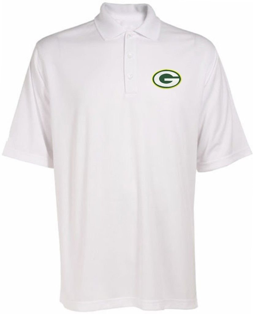Amazon Green Bay Packers Nfl Mens Solid White Dri Fit Polo