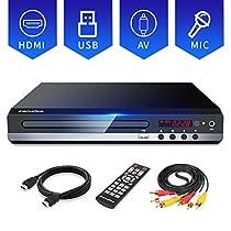 Sandoo DVD/CDプレーヤー HDMI端子搭載 (HDMIケーブル付き)