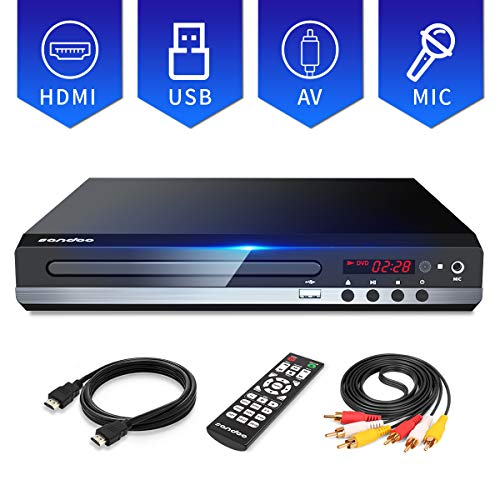 Sale!! Sandoo DVD Player for TV with HDMI Full HD 1080P, Multi-format Region Free DVD CD/Disc Player...
