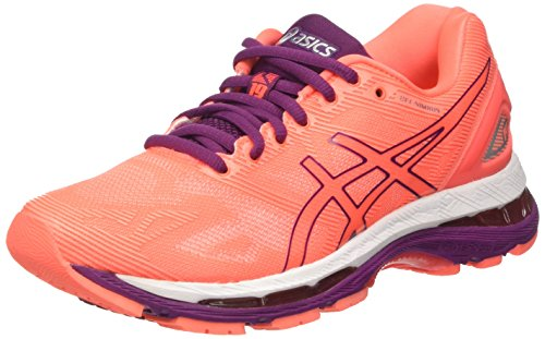 Purple White Gel Nimbus Mujer Running Asics Zapatillas Coral Flash para de Dark 19 Naranja 7dOwfHx4q