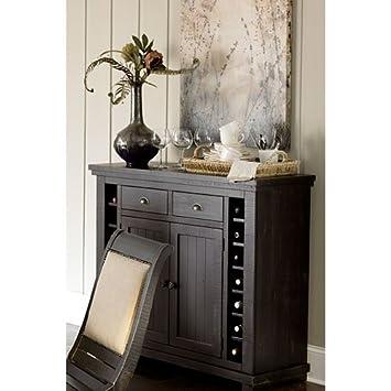 Progressive Furniture Willow Server, Distressed Black