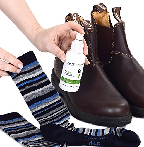Natural Mint Shoe Deodorizer, Foot Deodorant Spray. Fights Odor, Stink Caused by Bacteria. Spray Freshens Better Than Messy Powders, Antiperspirants, Insoles, Sneaker Balls. Use on Feet or Shoes.