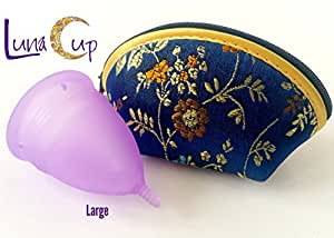 Luna Cup Menstrual, 1 Period Cup With 1 Carry Bag (L w/ Zipper Case)