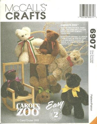 Carol's Zoo McCall's Crafts Sewing Pattern - Carols Zoo
