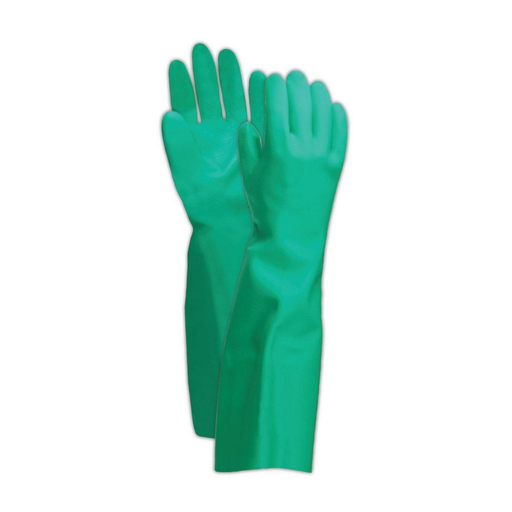 Ansell Gloves 102939 Ansell Sol-Vex 37-165 Unsupported Nitrile Gloves, Size 9, Green (Pack of 12)