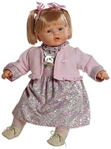 Berbesa - Dulzona, muñeca bebé llorona con vestido de flores, 62 cm (80121)