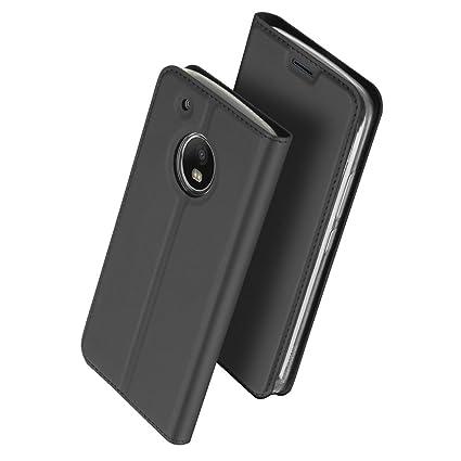 Lenovo Moto G5 Funda,iBetter Lenovo Moto G5 caso-Patrón PU Cuero Flip Protector Funda Carcasa Tapa Case Cover Designed Para Lenovo Moto G5 Phone-Negro