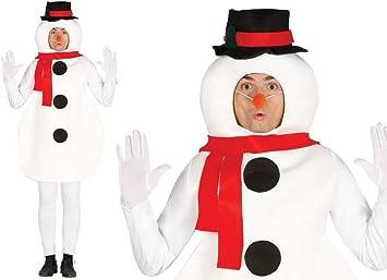 GUIRMA Disfraz de muñeco de Nieve para Hombre, Talla única ...